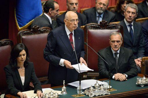 ITALY-POLITIC-PRESIDENT-NAPOLITANO